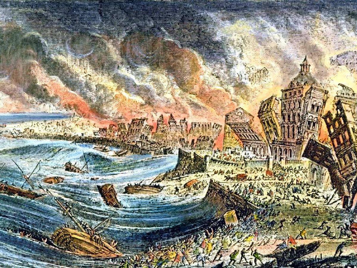 Foto: Ilustración del terremoto de Lisboa de 1755