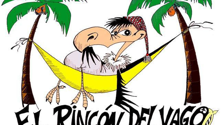 Uno de los primeros diseños del logo de El Rincón del Vago