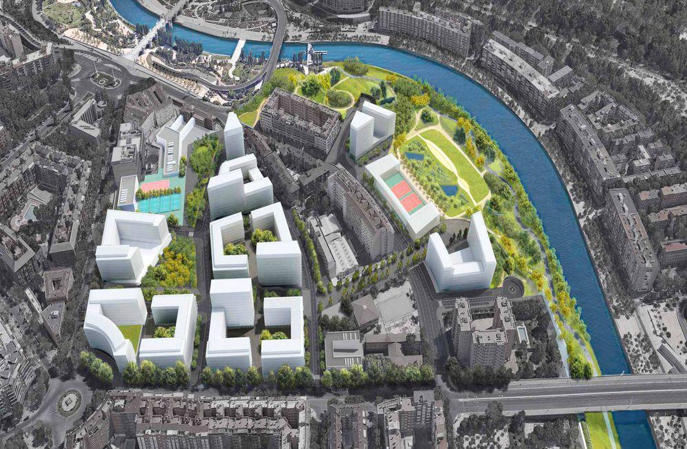 Foto: Maqueta del futuro desarrollo Mahou-Calderón. (EC)