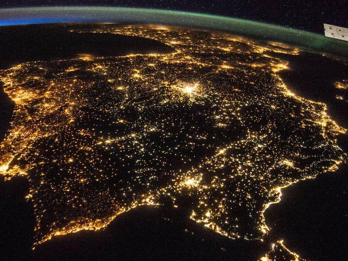 Foto: España, vista desde la Estación Espacial Internacional. (NASA)