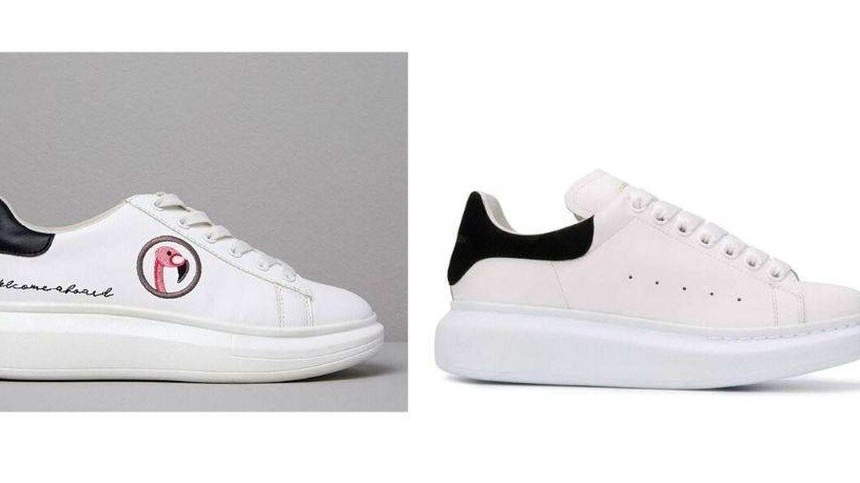 Sneakers de Paula y de Alexander McQueen. (Cortesía)