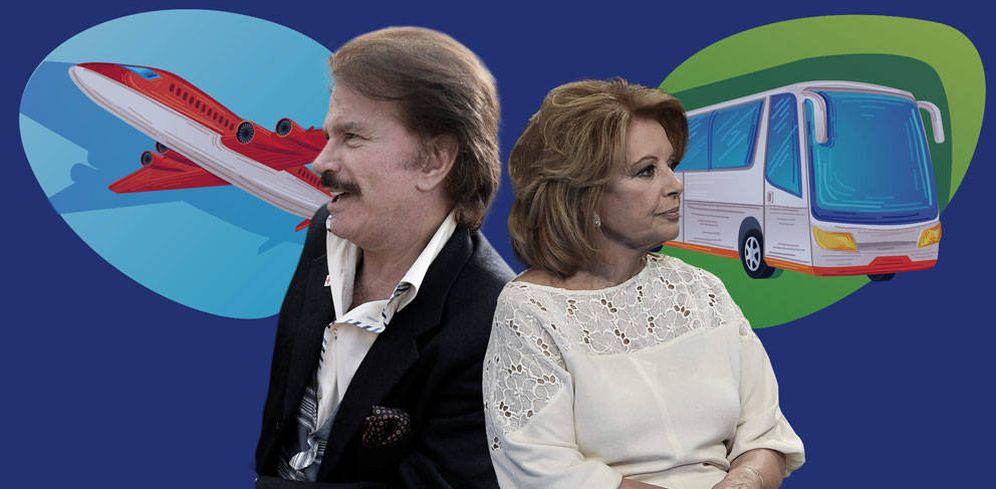 Foto: María Teresa y Bigote en un fotomontaje de Vanitatis.