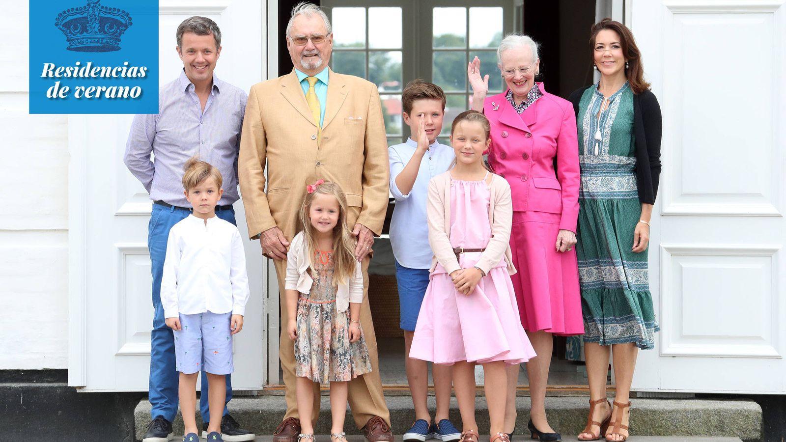 Foto: La familia real en Grasten. (Getty Images)