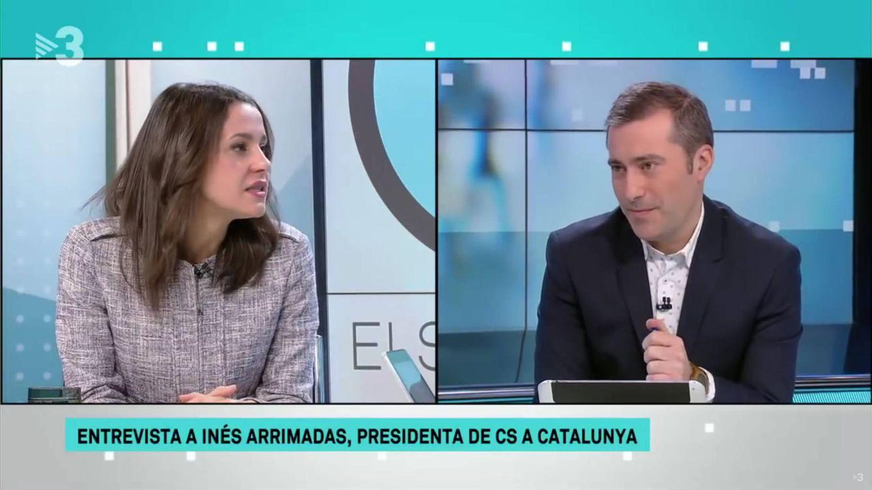 Inés Arrimadas, cuestionada en TV3 a cuenta del himno de 'Els Segadors'
