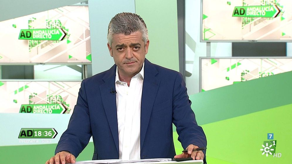 Foto: Modesto Barragán, presentador de 'Andalucía Directo'. (Canal Sur)