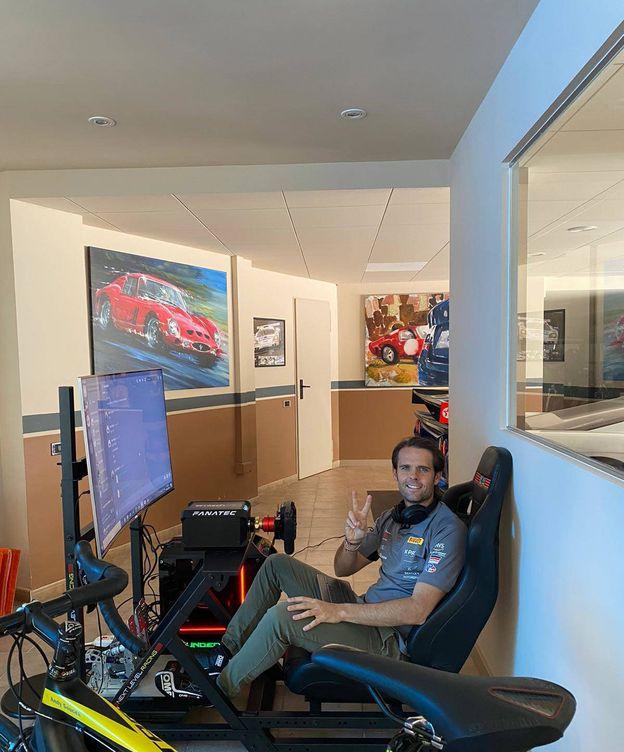 Foto: Andy Soucek se ha vuelto un fan más de los simuladores.