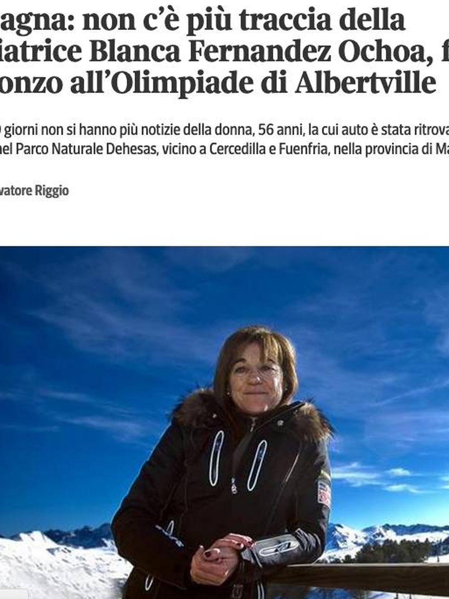 La noticia en 'Il Corriere della sera' italiano.