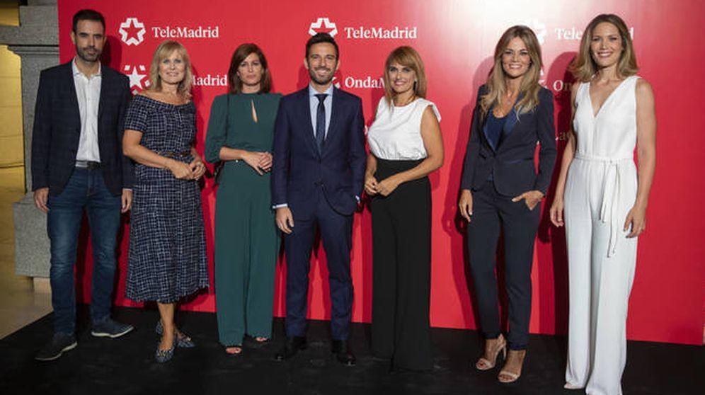 Foto:  Algunas de las caras conocidas de Telemadrid. (Cortesía)