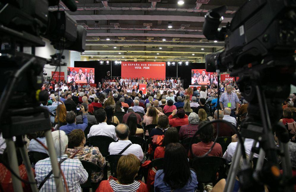 Foto: Pedro Sánchez, este 14 de abril, en el Gran Canaria Arena de Las Palmas. (Eva Ercolanese | PSOE)