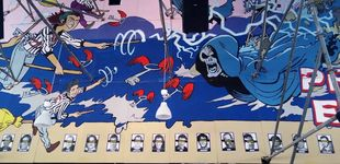 Post de La Ertzaintza retira los carteles con fotos de presos de ETA de una caseta en Bilbao