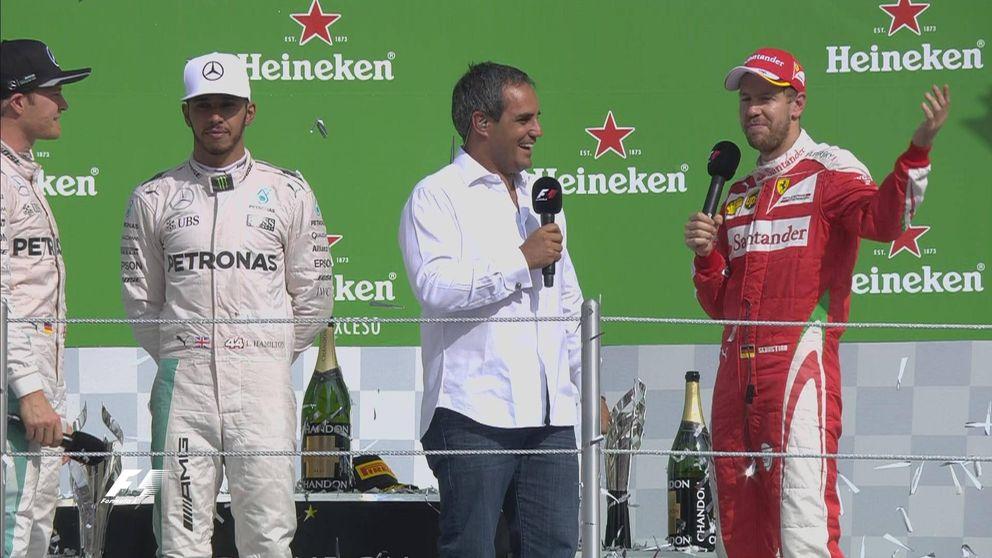 Hamilton gana con polémica de Vettel y Verstappen: Vete a tomar por c...
