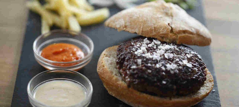 Foto: Hamburguesa de buey. Taberna Pedraza