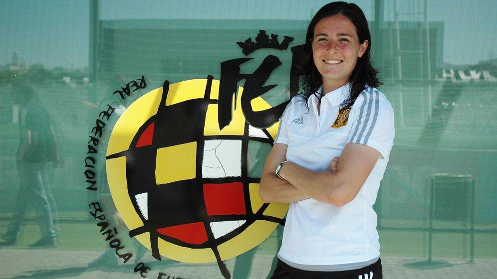 Foto: Natalia Pablos en la Ciudad del Fútbol de Las Rozas (Foto: S. Massa)