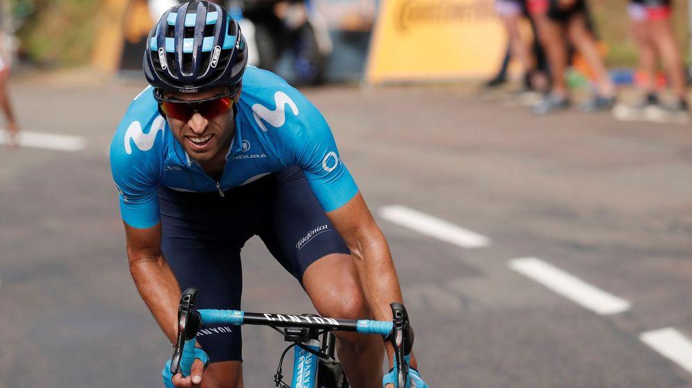 Foto: Mikel Landa perdió más de dos minutos en la 10ª etapa por nua caída. (EFE)