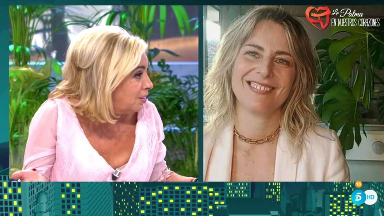 Borrego contestando a Gabriela. (Telecinco).