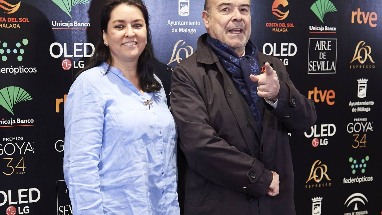 Ana Pérez-Lorente Ynzenga y Antonio Resines. (Getty)