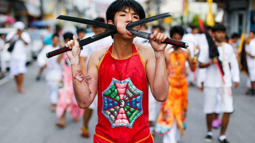 Así celebran el Festival Vegetariano de Phuket, en Tailandia