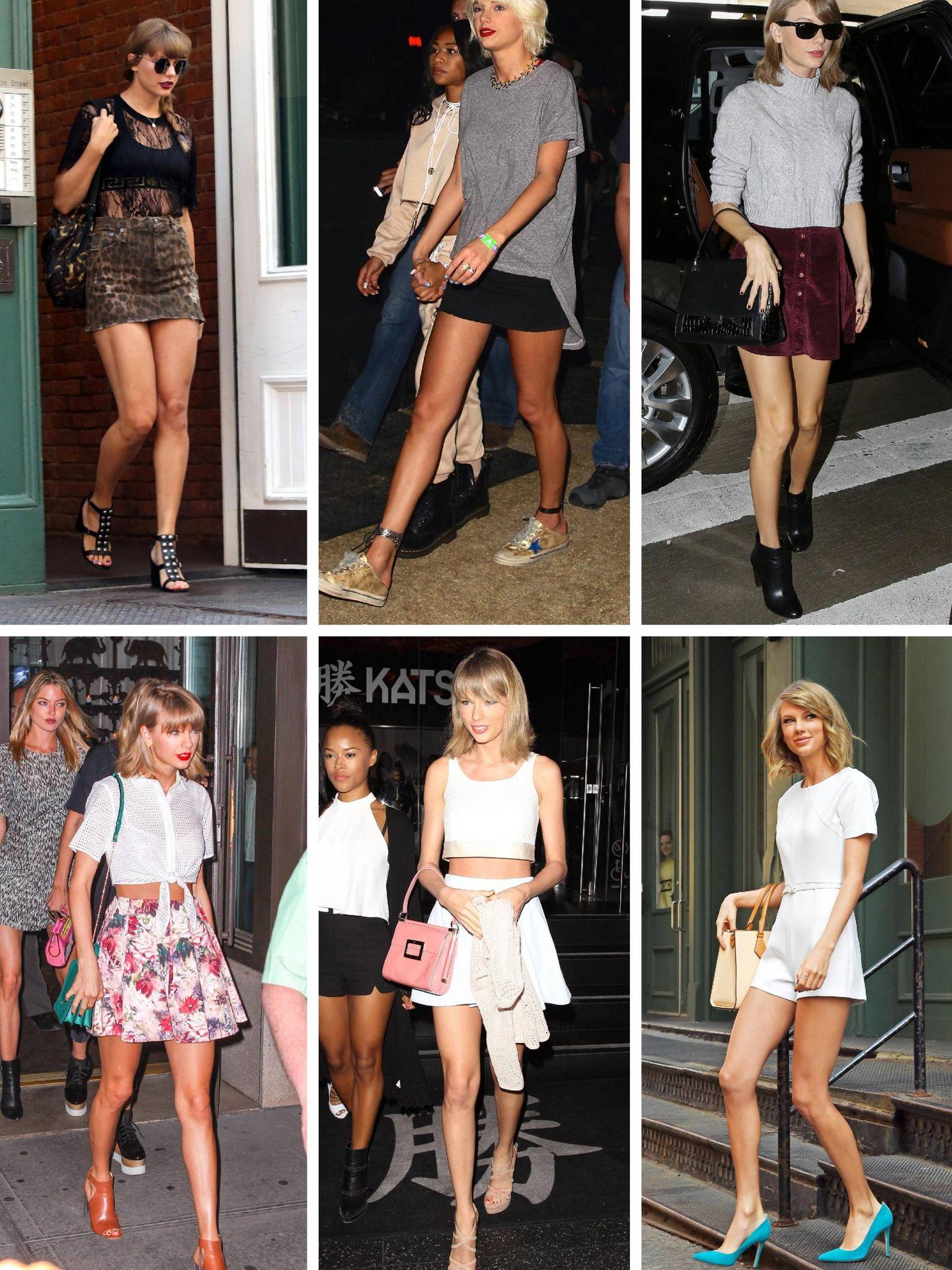 Taylor Swift de 2018 a 2014. (Cordon Press)