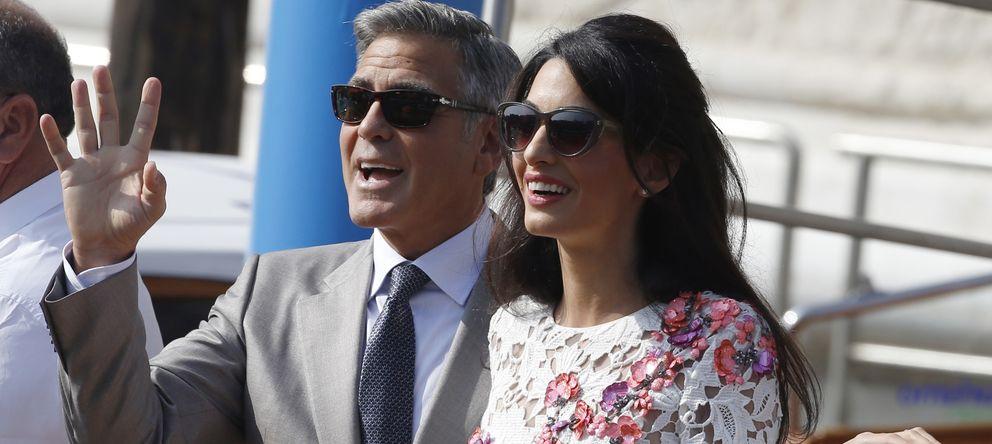 Foto: George Clooney y Amal Alamuddin celebran su boda en Venecia