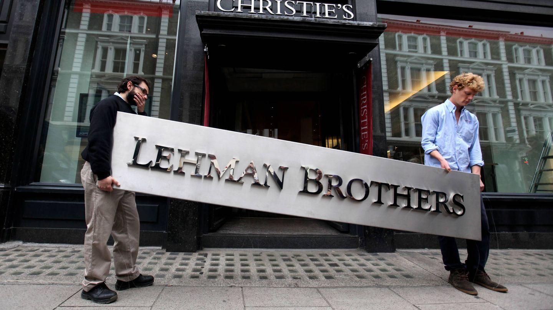 El logo de Lehman Brothers tras la bancarrota de la empresa. (Getty)