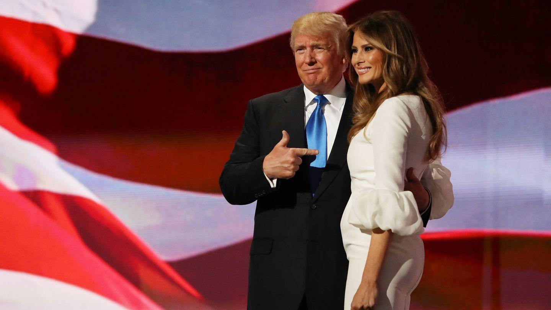 Los Trump, las barras y las estrellas. (Getty)