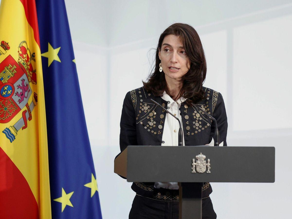 Foto: La ministra de Justicia, Pilar Llop, durante una intervención este miércoles, en el Palacio de la Moncloa. (EFE)