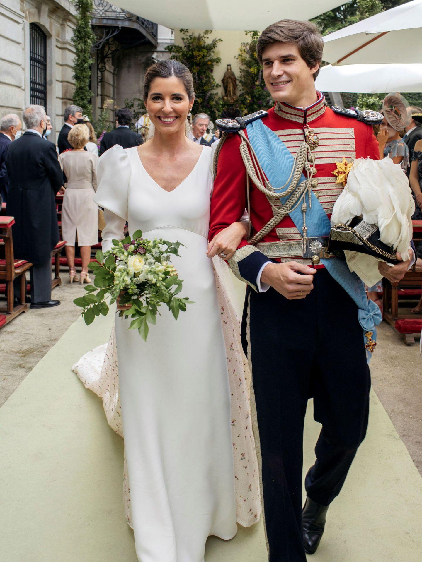 Belén Corsini y Carlos Fitz-James, el día de su boda. (EFE)