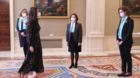 El vestido confeti de la reina Letizia con el que apoya el empoderamiento femenino