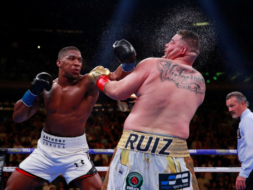 Foto: Anthony Joshua ante Andy Ruiz Jr el pasado 1 de junio. (Reuters)