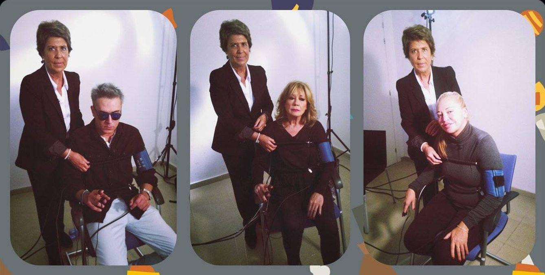 Foto: Imagen de los colaboradores del 'Deluxe' sometiéndose al polígrafo de Conchita