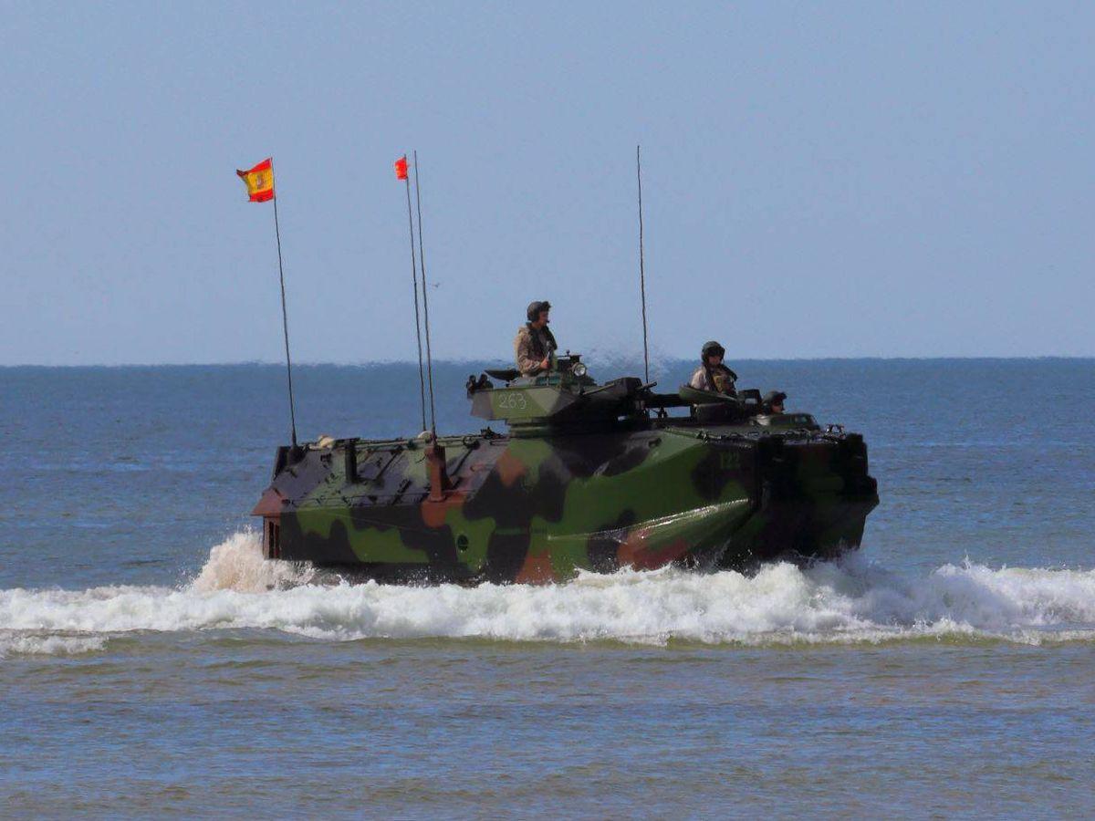 Foto: Blindado anfibio AAV-7 de la Infantería de Marina (Foto: Juanjo Fernández)