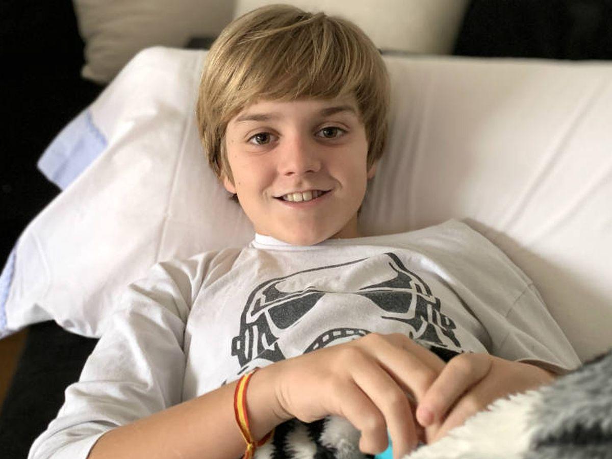Foto: Lucas, el día que llegó del hospital.
