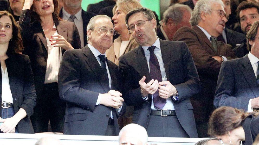 Foto: Los presidentes de Real Madrid y FC Barcelona, Florentino Pérez (i) y Josep María Bartomeu. (EFE)