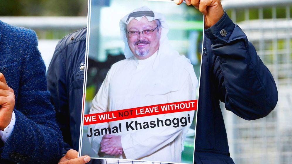 Foto: Protesta a favor de Khashoggi. (Reuters)