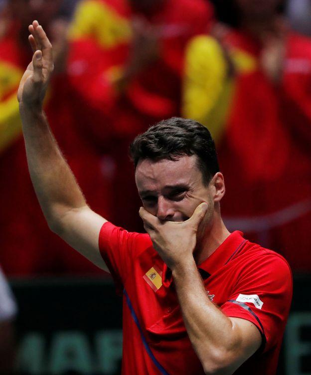 Foto: Roberto Bautista, emocionado tras su gran victoria ante Canadá. (Reuters)