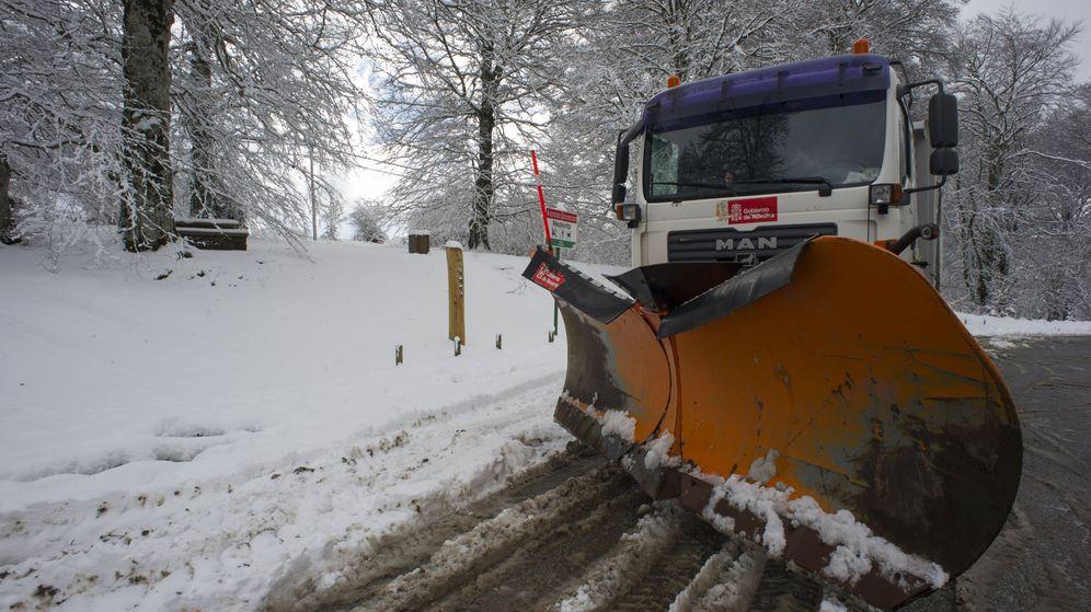 Foto: Imagen del temporal de nieve en Navarra