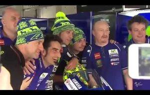 Un casco de invierno para Valentino Rossi