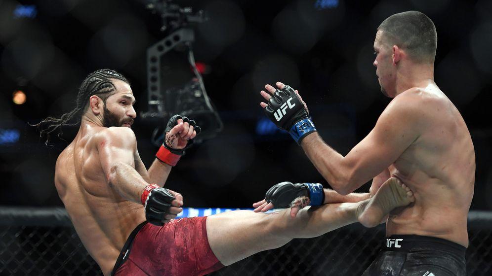 Foto: Jorge Masvidal contra Nate Díaz (USA TODAY Sports)