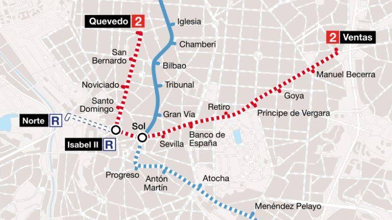 Ampliaciones del metro de Madrid entre 1920 y 1926. (CC/Benedicto16)