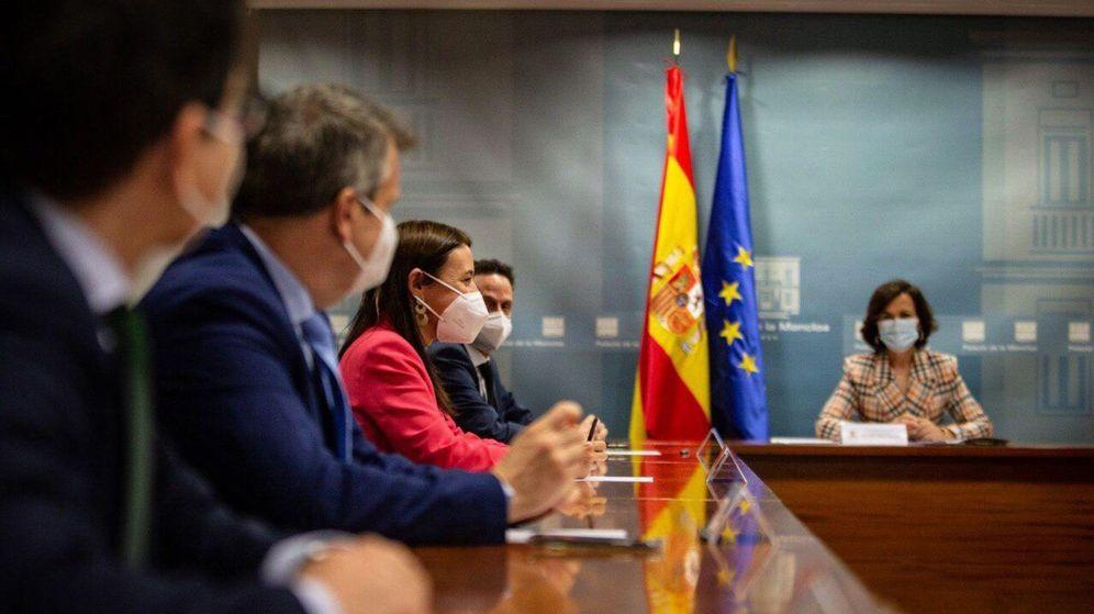 Foto: La anterior cita de Calvo con Cs fue el pasado 12 de junio. (EFE)