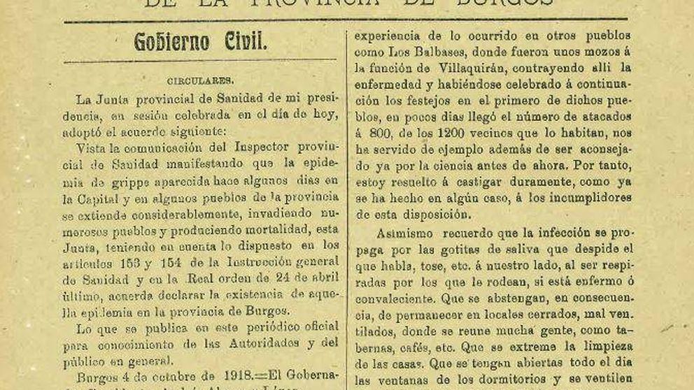 ¿Medidas contra una pandemia? Así lo hicieron en los pueblos de Burgos en 1918