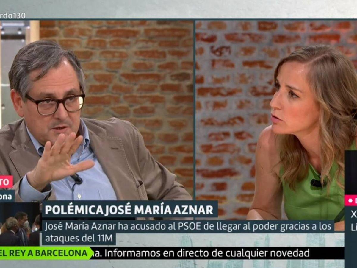 Foto: Marhuenda y Tania Sánchez. (La Sexta).