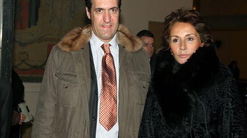 Marichalar, Naty Abascal y la familia Garrigues, en el funeral de Elena de Borbón