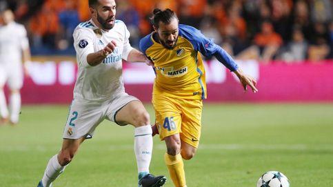 La UEFA sancionará a Carvajal con dos partidos por forzar la amarilla en Chipre