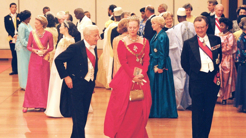 Banquete de la entronización de Akihito y Michiko. (Getty)