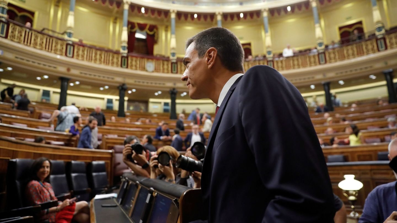 El presidente del Gobierno, Pedro Sánchez, anuncia que impulsará la reforma constitucional. (EFE)