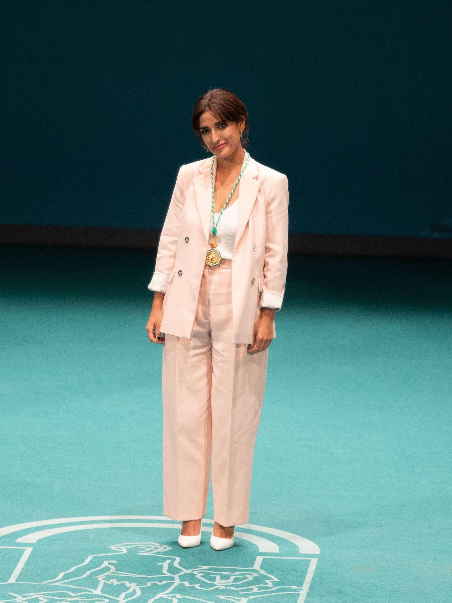 Inma Cuesta, vestida de Sandro. (Getty)