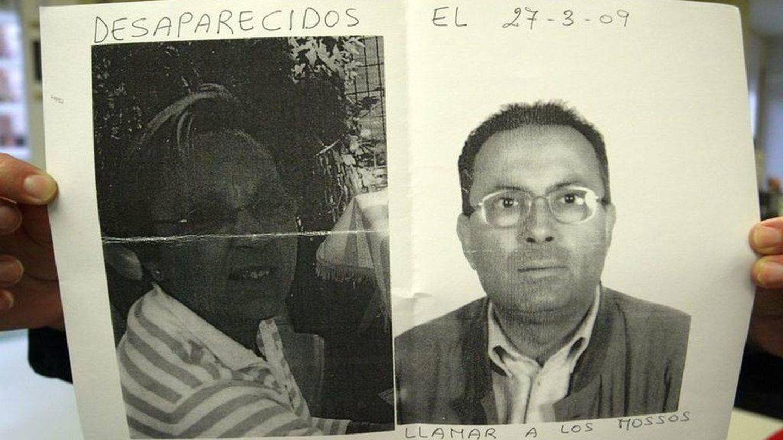 Julia Lamas y Maurici Font, en los carteles difundidos tras su desaparición.