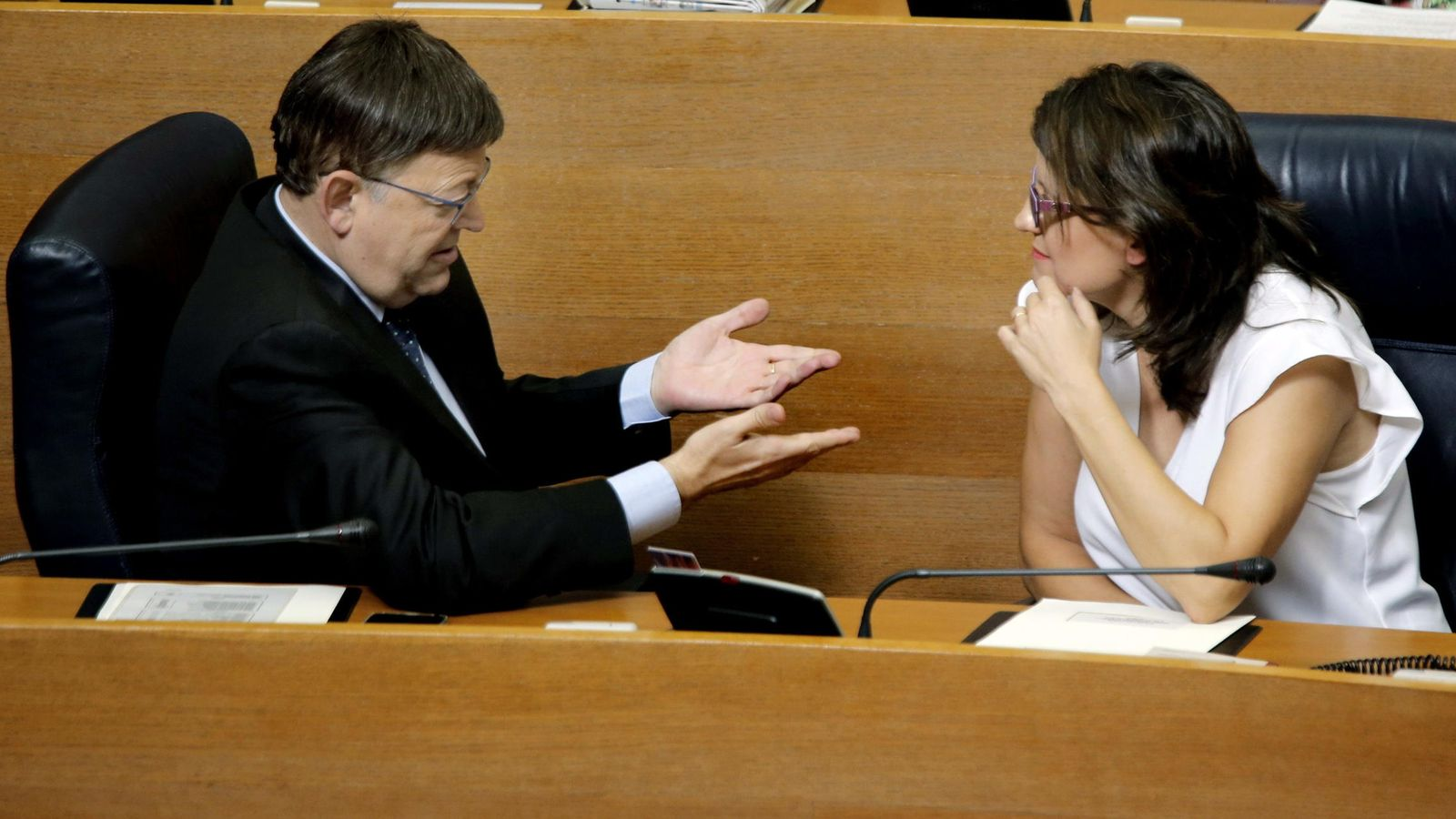 Foto: El president de la Generalitat, Ximo Puig junto a su vicepresidenta, Mónica Oltra. (EFE)