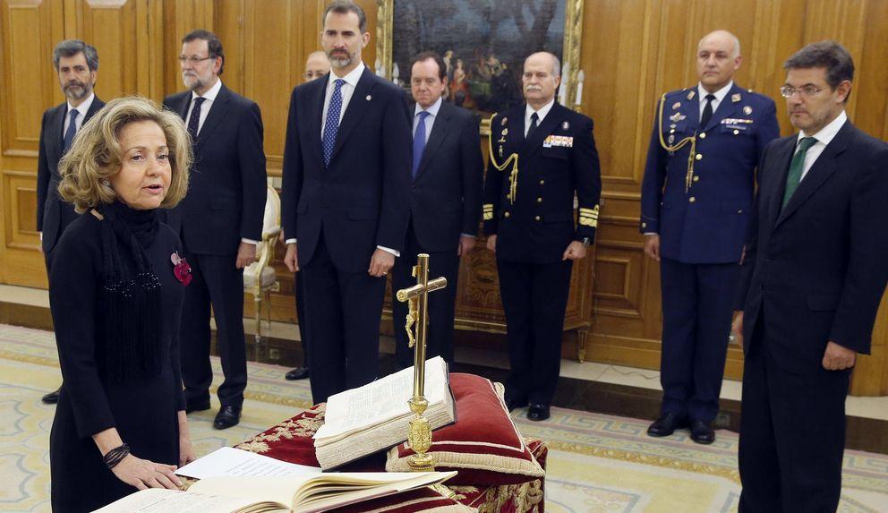 Foto: Consuelo Madrigal prometió este lunes su cargo ante el Rey